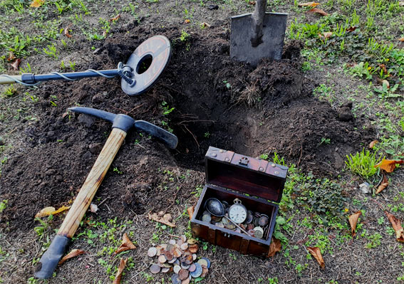 Familienschatz vergraben