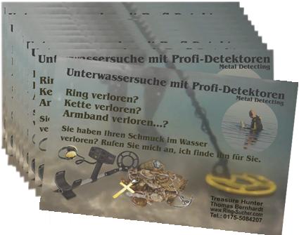 Visitenkarte Schatzsuche